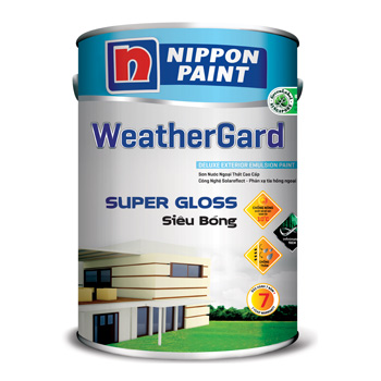Sơn Nippon WeatherGard Siêu Bóng (5l, 1l)