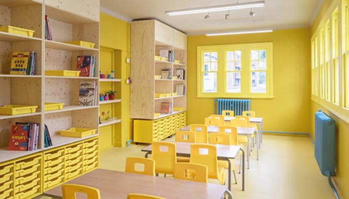 Màu sơn trường học nào tác động tích cực đến tâm trí trẻ nhỏ?