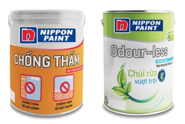 Những bộ đôi sơn chống thấm và dễ lau chùi của hãng Nippon