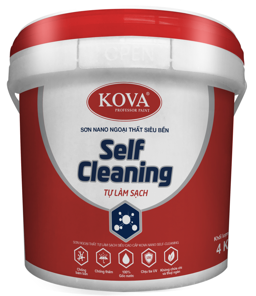 Sơn KOVA NANO Self- Cleaning Tự Làm Sạch