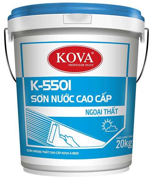 SƠN NGOẠI THẤT CAO CẤP KOVA K-5501 (20kg, 4kg)
