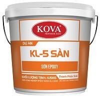 Sơn công nghiệp EPOXY KOVA KL-5T GOlD bóng sơn sàn kháng khuẩn (20kg, 4kg)