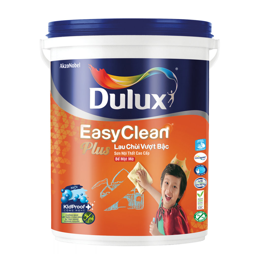 Dulux EasyClean Plus Lau Chùi Vượt Bậc Bề Mặt Mờ (5l)