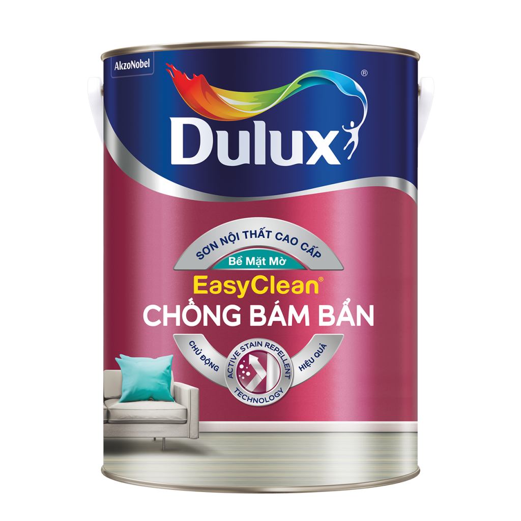 Dulux EasyClean Chống Bám Bẩn – Bề Mặt Mờ (15l, 5l, 1l)