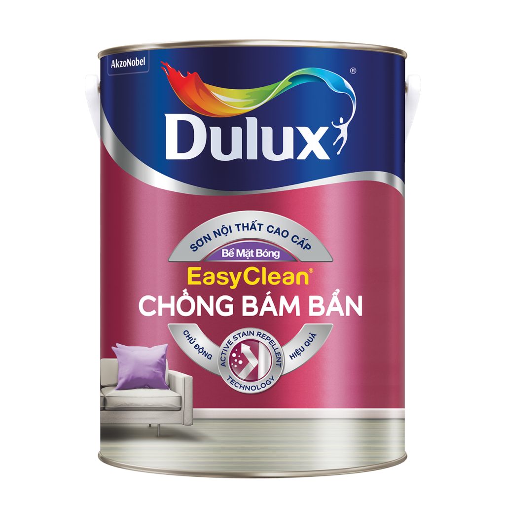 Dulux EasyClean Chống Bám Bẩn – Bề Mặt Bóng (15l, 5l,, 1l)