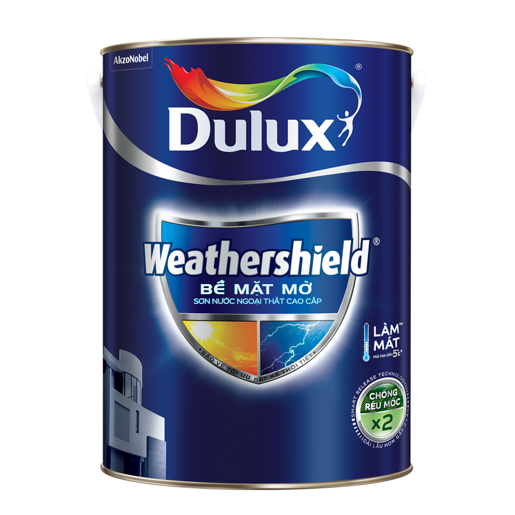 Dulux Weathershield Bề Mặt Mờ (15l, 5l, 1l)