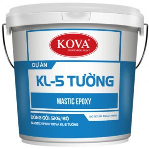 Mastic KOVA KL-5 tường mịn (25kg, 5kg)