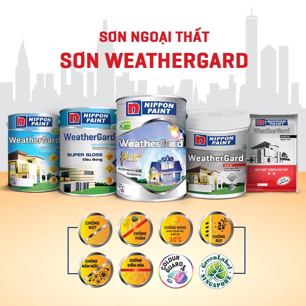 Đặc điểm của những loại sơn Nippon WeatherGard