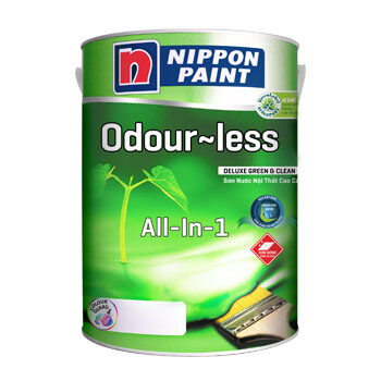 Sơn Nippon Odour-less Deluxe All-in-1 (18l, 5l, 1l)