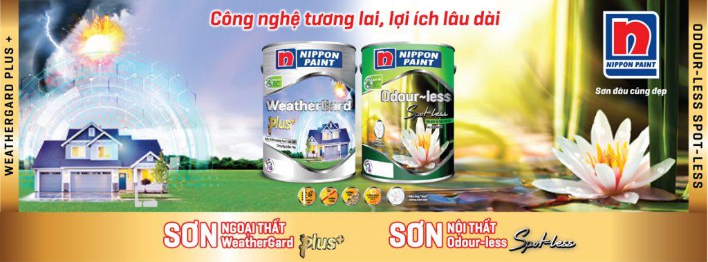 Hai sản phẩm sơn nội thất, ngoại thất Nippon giúp tăng cường sức mạnh bảo vệ ngôi nhà bạn