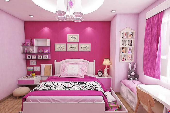 Chọn màu sơn dầu Nippon Tilac cho phòng ngủ bé gái