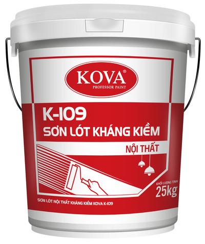 SƠN LÓT NỘI THẤT KHÁNG KIỀM KOVA K-109 (20kg, 4kg)