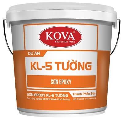 Sơn công nghiệp EPOXY KOVA KL-5T GOlD bóng mờ sơn tường (20kg, 4kg)