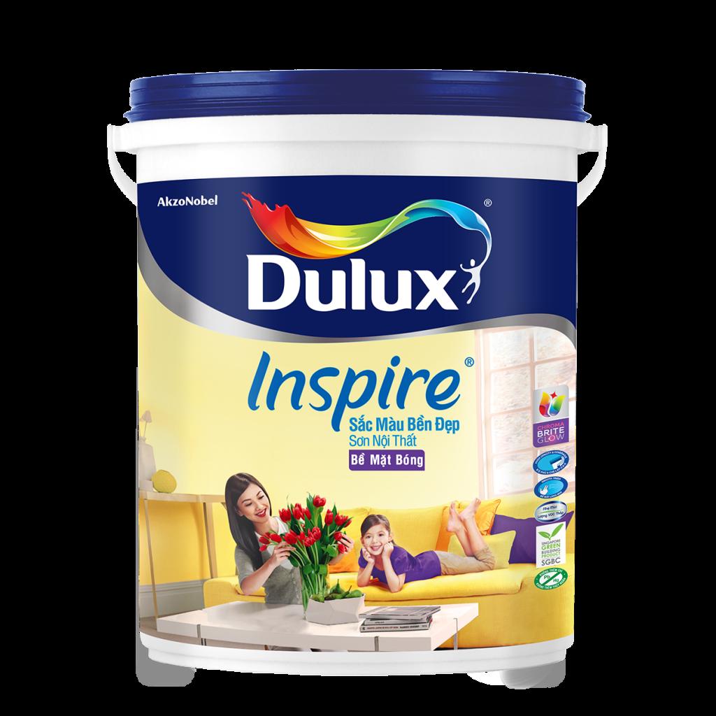 Dulux Inspire Nội Thất Sắc Màu Bền Đẹp Bề Mặt Bóng (18l, 5l)